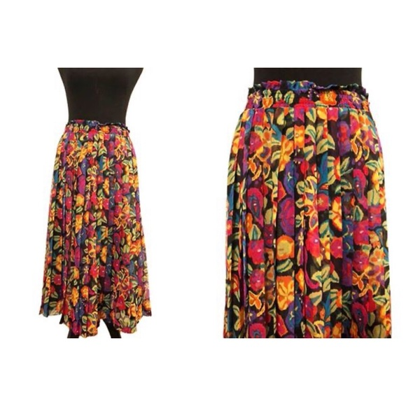 Chaus Petites Dresses & Skirts - Chaus Petites | Vintage 1980's Floral Skirt